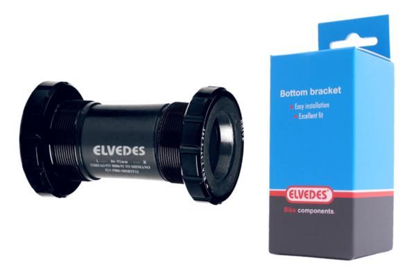 Schwarz ELVEDES BSA Tretlagergeh/äuse 100 mm f/ür Fat Cycle E-Bike Erwachsene Unisex Standard